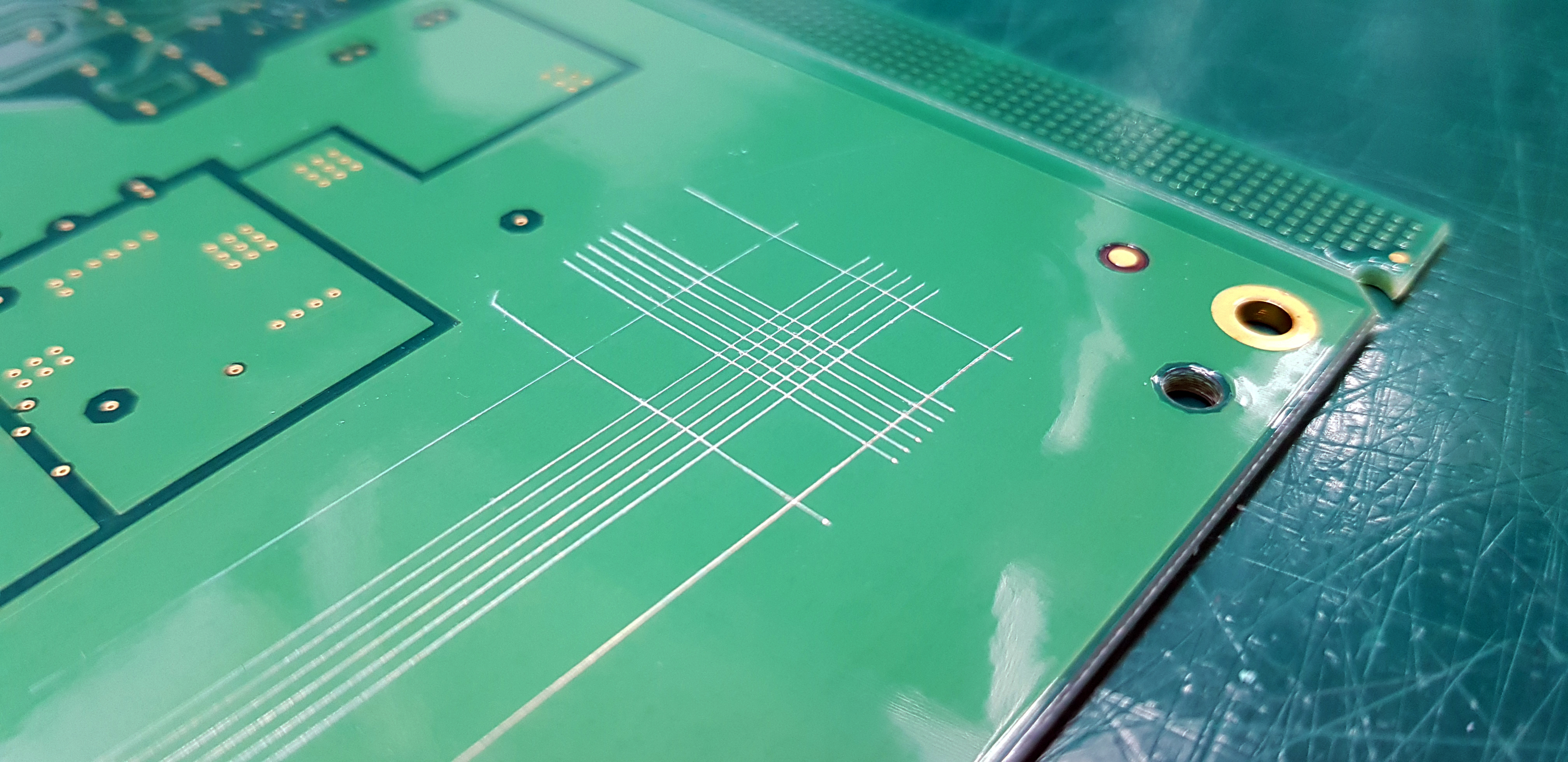 PCB conformal coating types on a bare board