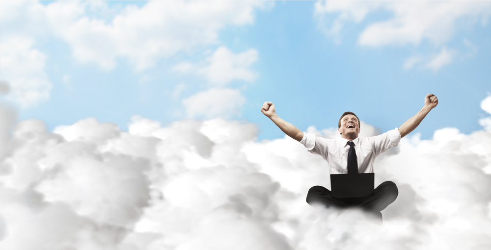 Guy Sitting on Clouds