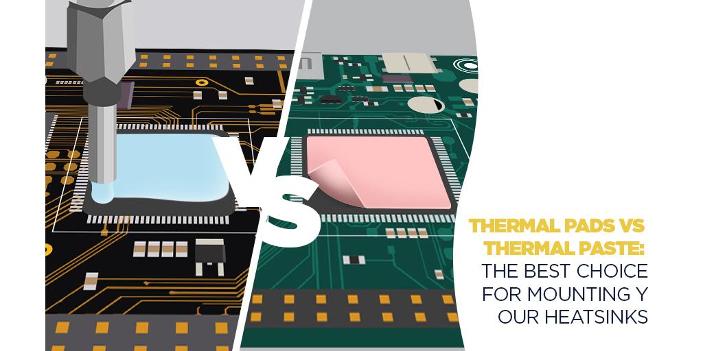 Options d'adhésif thermique: pâte thermique vs tampons thermiques