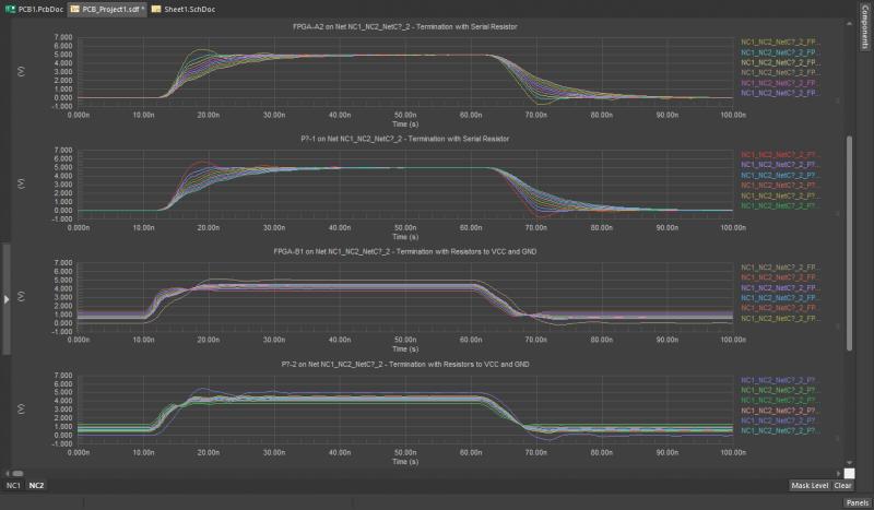 Signal integrity simulation results in Altium Designer