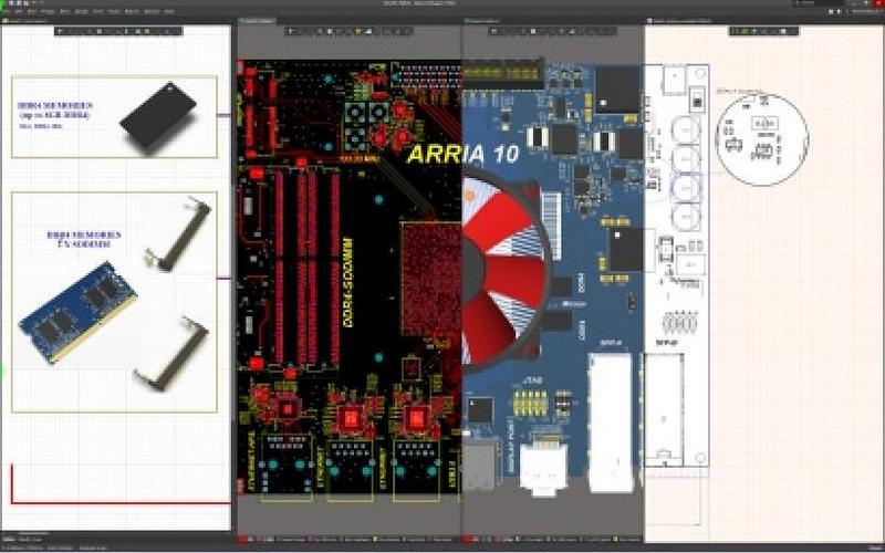 Altium Designerからの統合設計環境のスクリーンショット