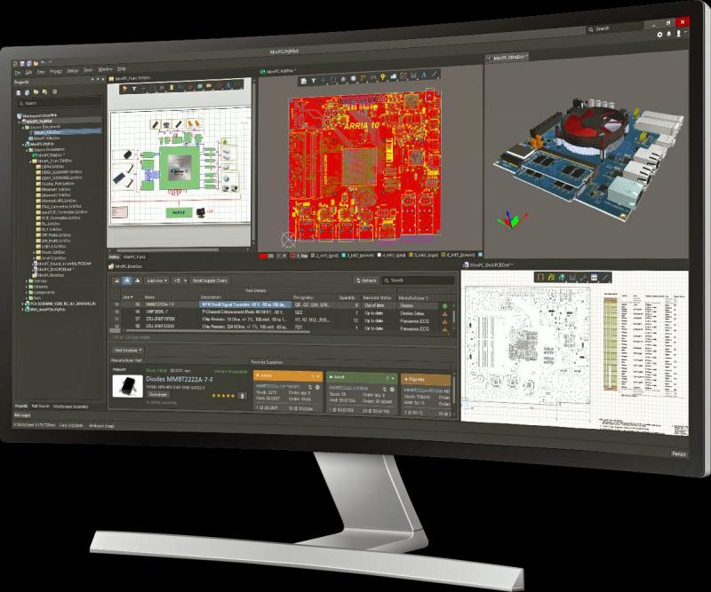 L'interfaccia di progettazione unificata in Altium Designer, software dotato di simulatore per Arduino online( L'interfaccia di progettazione unificata in Altium Designer, software dotato di simulatore per Arduino online