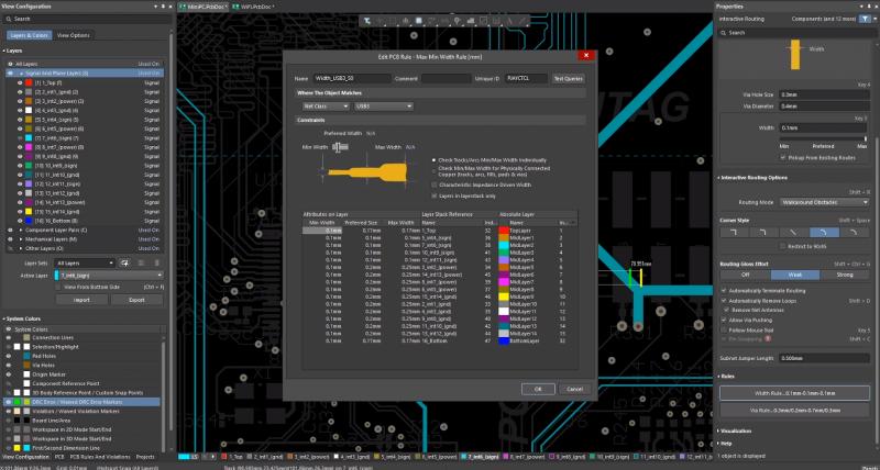Verwenden Sie intelligente Schichtdefinitions-Tools für die Signalintegrität