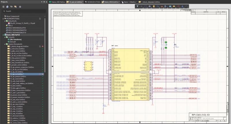 Grâce à l'intégration PLM, vous pouvez importer instantanément des composants mis à jour dans votre schéma