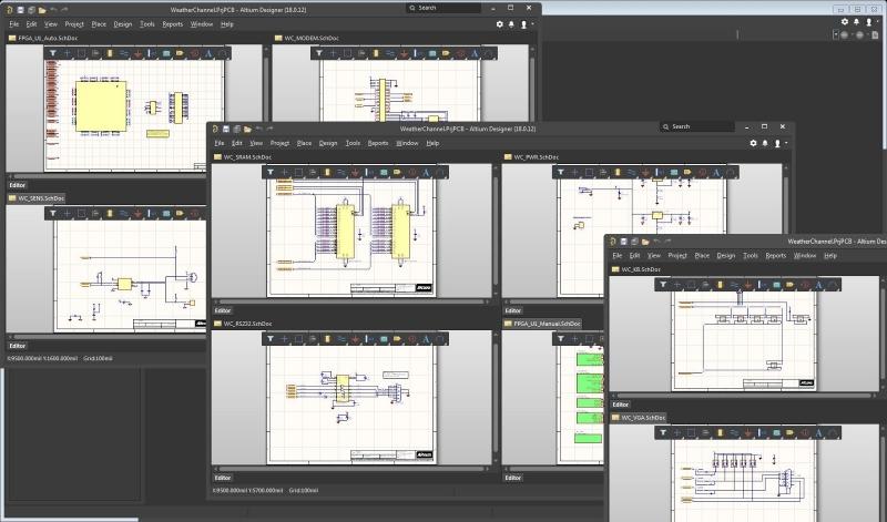 Screen capture of Altium Designer schematic capture tool