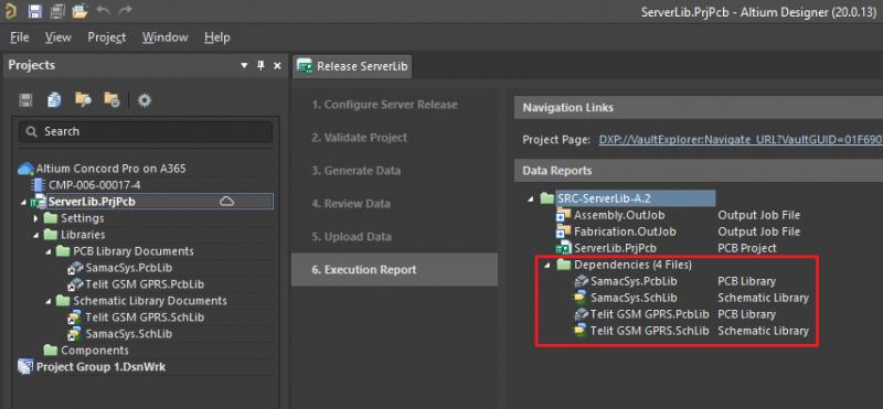 Screenshot showing component library creation in Altium Designer