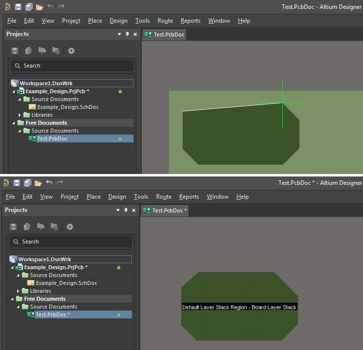 Definir siluetas de capas en Altium Designer