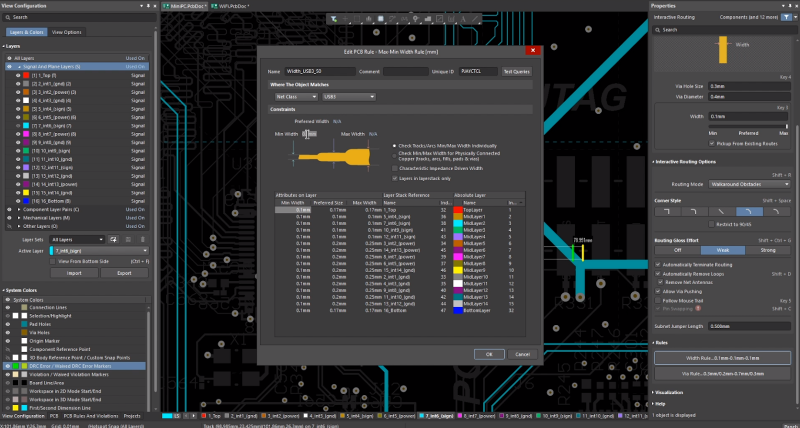 Use intelligent layer definition tools for signal integrity