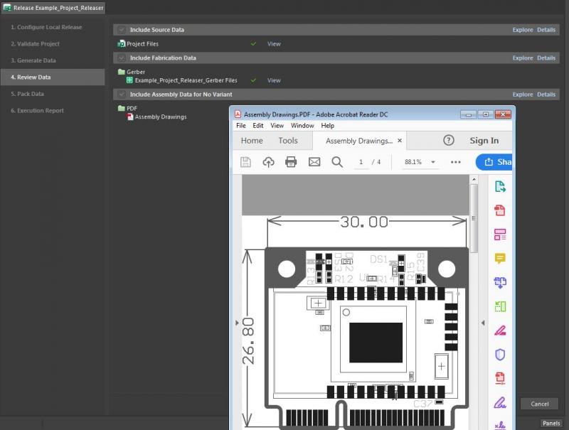 Screenshot of the Gerber files viewer for PCB solder mask layer in Altium Designer