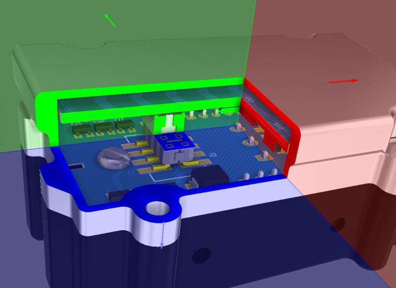 Screenshot of section view in Altium Designer's unified design environment