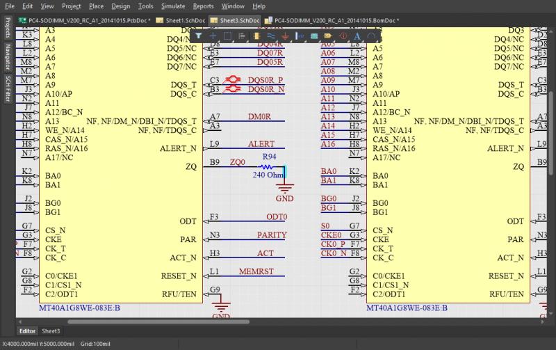 Dessin de schématique dans un logiciel de routage PCB