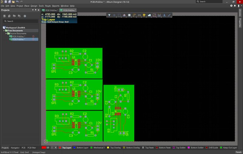 Altium designer Visualizzatore PCB