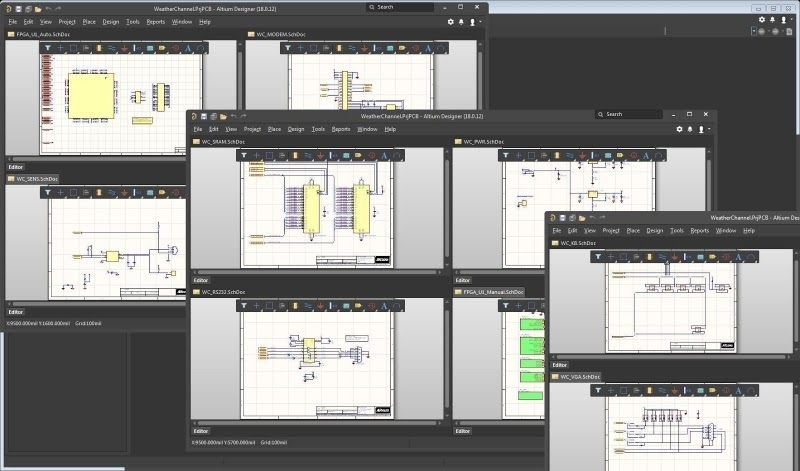 PCB-CAD-Software Design-Tools: Der effektive Editor für hierarchische Schaltpläne von Altium Designer