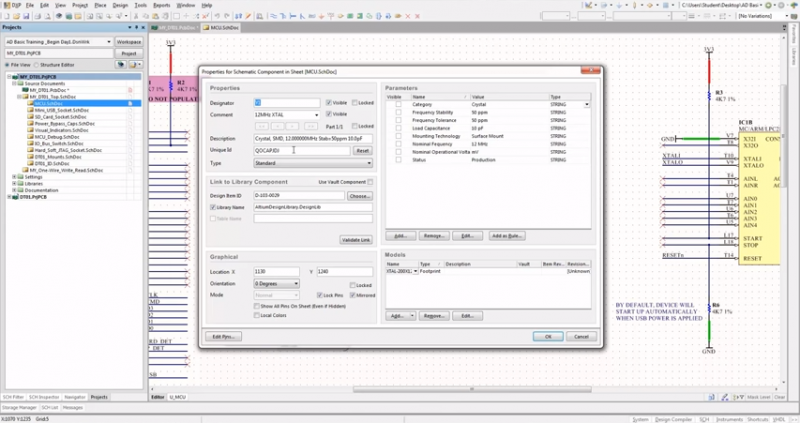 Screenshot of automated schematic back annotation in Altium Designer
