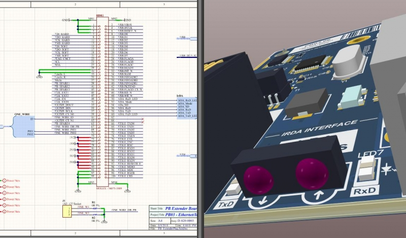 Screenshot of AD18 schematic and layout design session