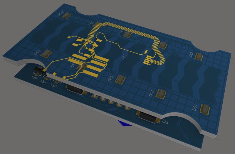 Screenshot of a 3D multi-board system in Altium Designer