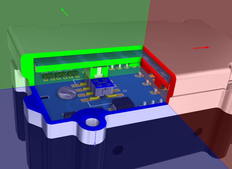 Altium Designerの統合設計環境の断面ビューのスクリーンショット