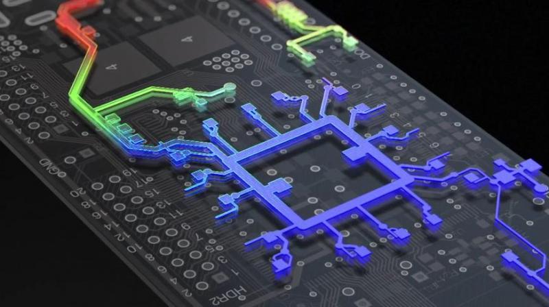 3D view showing heat accumulation using Altium Designer