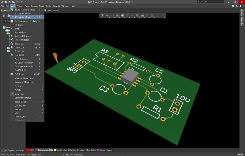 Photodiode circuit pcb layout