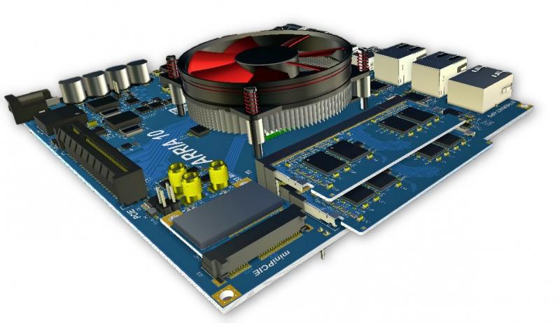 Screenshot of a finished circuit board in Altium Designer