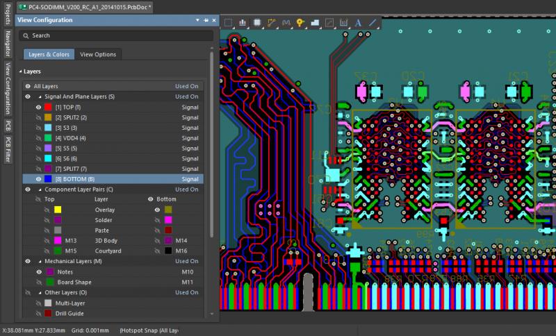 Screenshot of Altium Designer PDN and simulation tools
