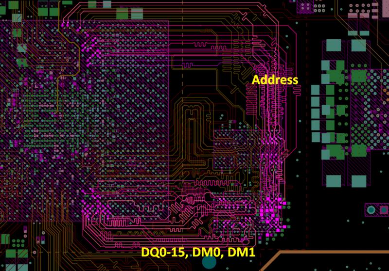 Piste PCB de ligne de transmission