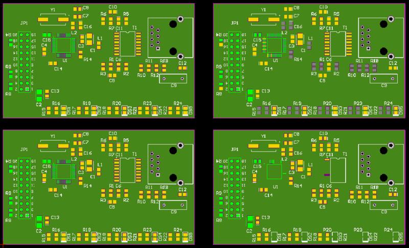 Board array in preparation for panelization