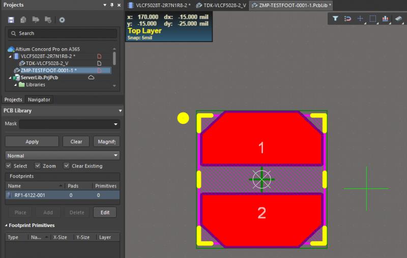 PCB footprint libraries in Altium Designer
