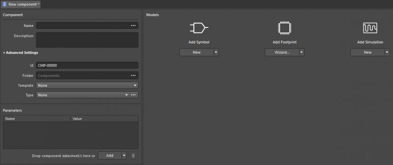 Screenshot showing component creation in Altium Designer and Altium Concord Pro
