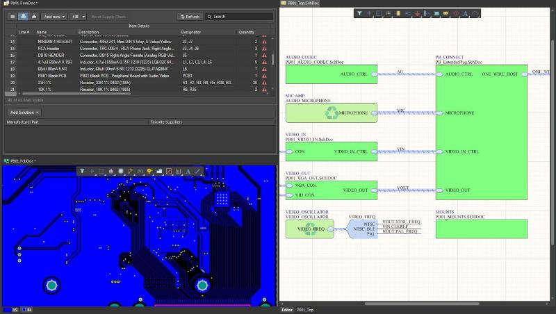 Screenshot showing fabrication outputs in Altium Designer