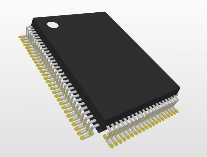 Footprint PQFP per libreria PCB realizzato con IPC® Compliant Footprint Wizard di Altium Designer®