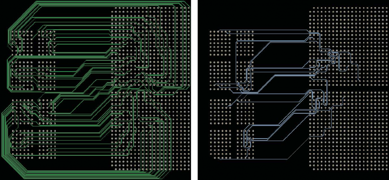 Using a PCB autoroute tool one layer at a time.