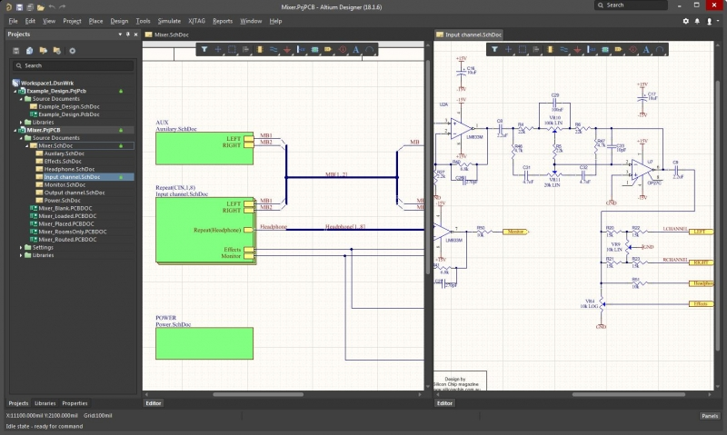 Screenshot of a schematic in AD18 for guide to PCB terminology