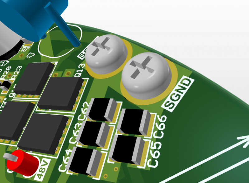 PCB supports and MCAD features