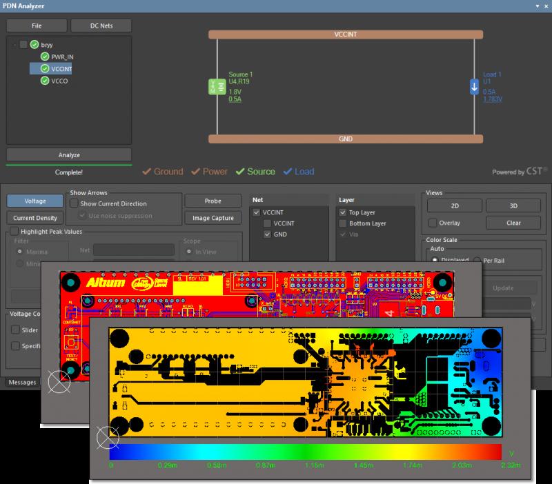 Altium Designer PDN analysis