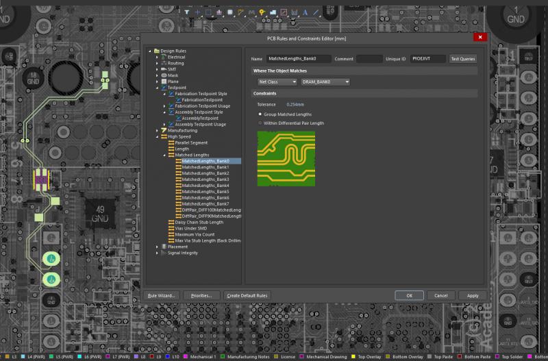 La topologie Fly-by utilise des composants série pour rattraper la longueur de piste des circuits imprimés.