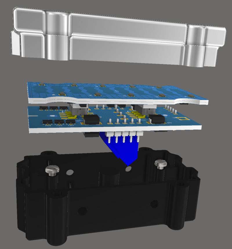 Altium Designerでのマルチボード デザインのスクリーンショット
