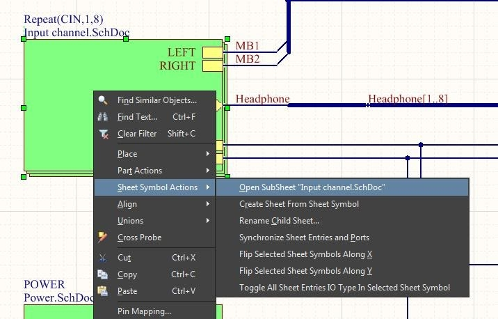 Hierarchical schematic editor in PCB design software list