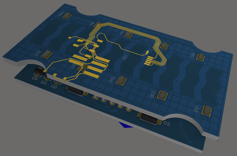 Nets and trace highlighted in 3D layout for Altium Designer
