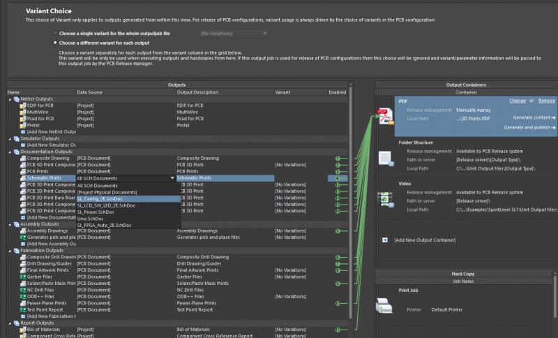 Altium's Output job file coordinates build files