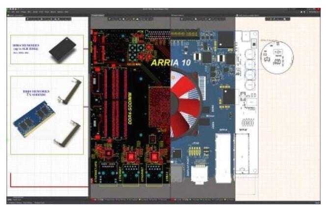 Al contrario que otros programas para hacer circuitos impresos gratis, Altium puede dividirse tanto como su atención lo necesite