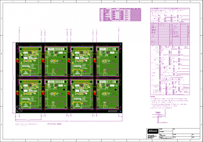 Screenshot of AD session with panelization arrangement