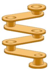 """Screenshot di un percorso stampato in stile """"albero motore"""""""