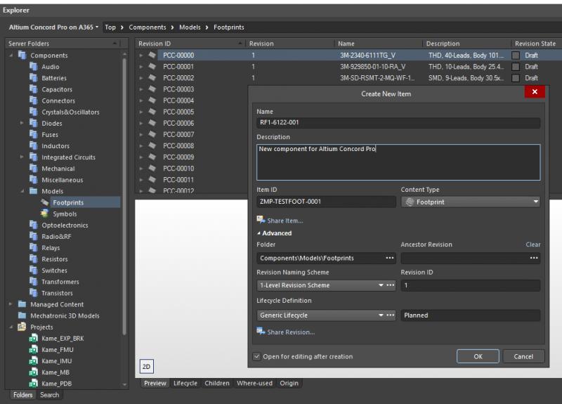 PCB footprint libraries creation in Altium 365 and Altium Designer