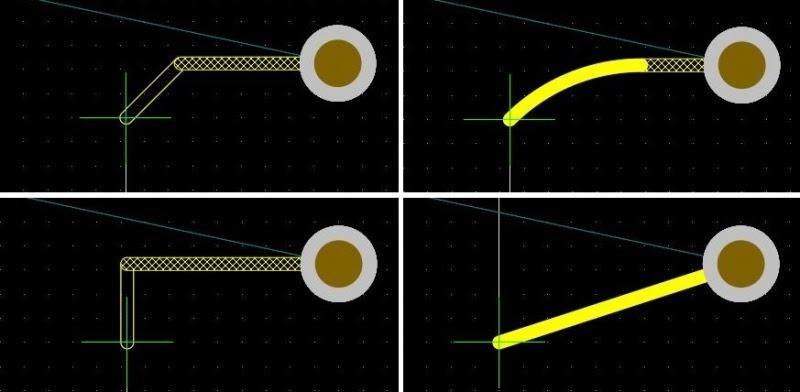 Fig. 2 Options de tracés et de routage avancé dans Altium Designer