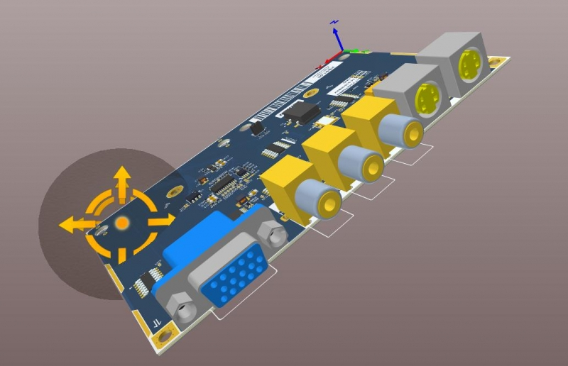 ECAD PCB screenshot of AD18 3D layout