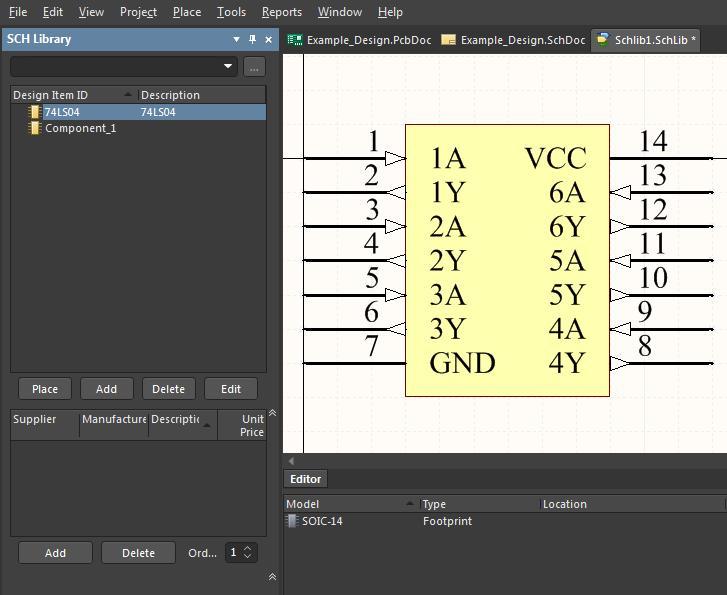 Neues Schaltplansymbol mit IC-Pin-Nummern
