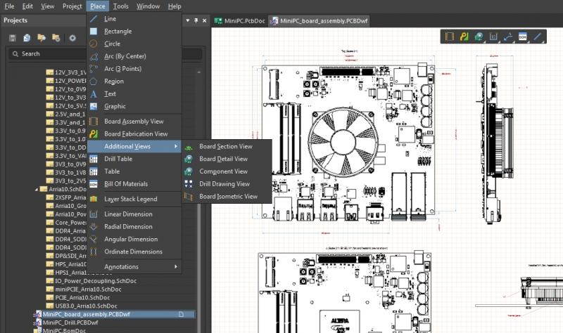 Screenshot of the schematic editor