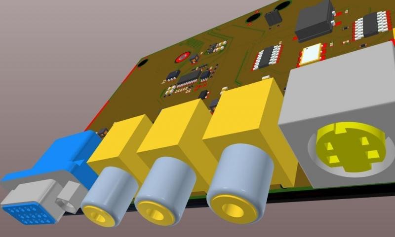 Diseño 3D de un circuito eléctrico simple