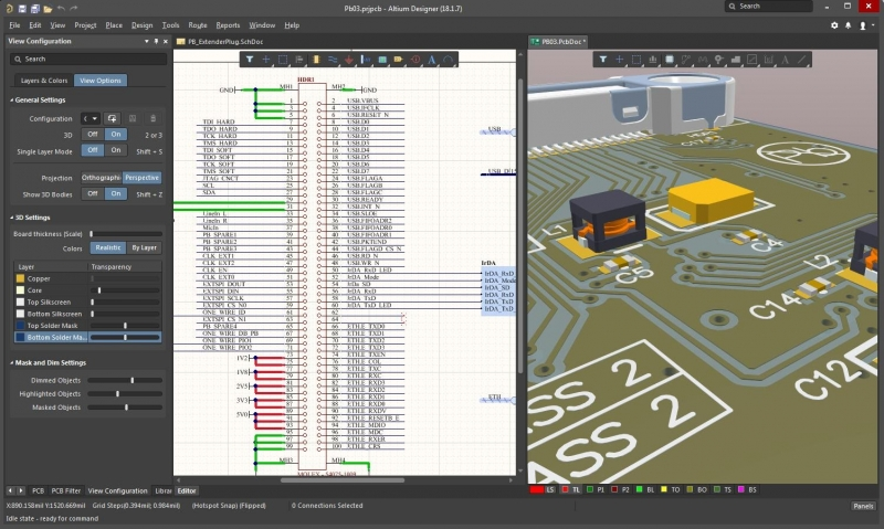 Schematic capture and PCB layout in free PCB layout & design software free download